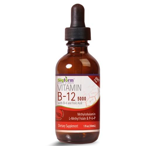 Vitamin B-12 5000 with B6 and Folic Acid