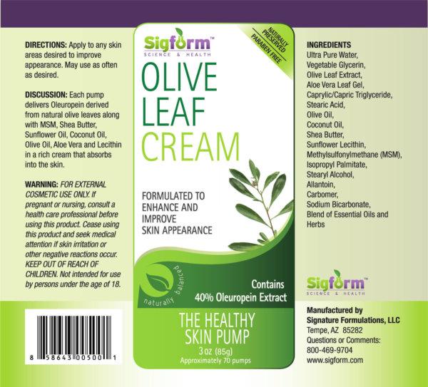 olive leaf cream
