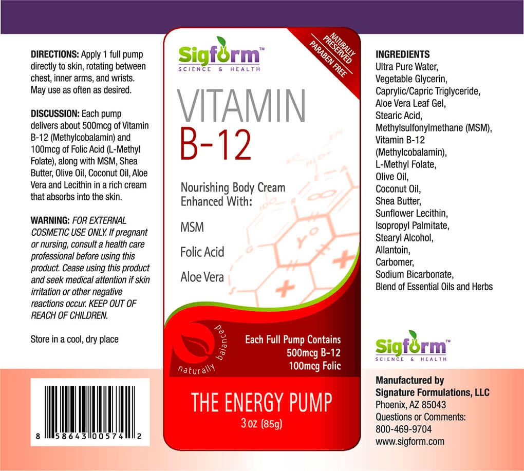 B12 3oz cream Label