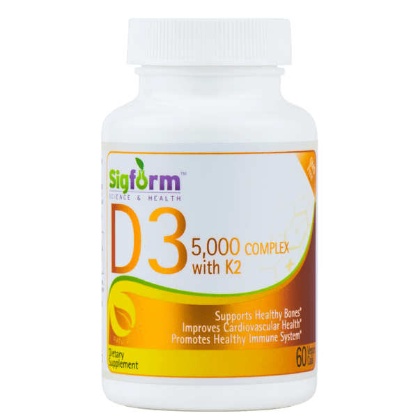 VITAMIN D3 5000 IU Complex with K2 (60 cps) 1