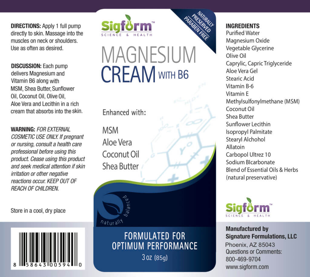 Magnesium Oxide Cream with B6 1