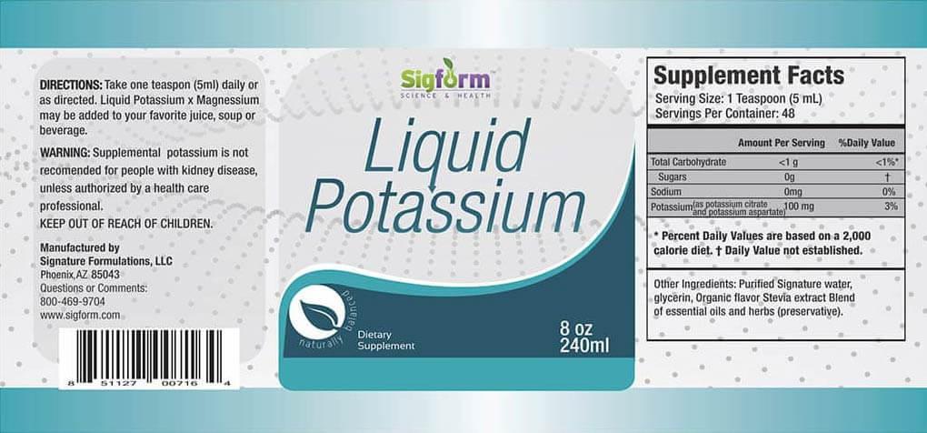 liquid potassium facts