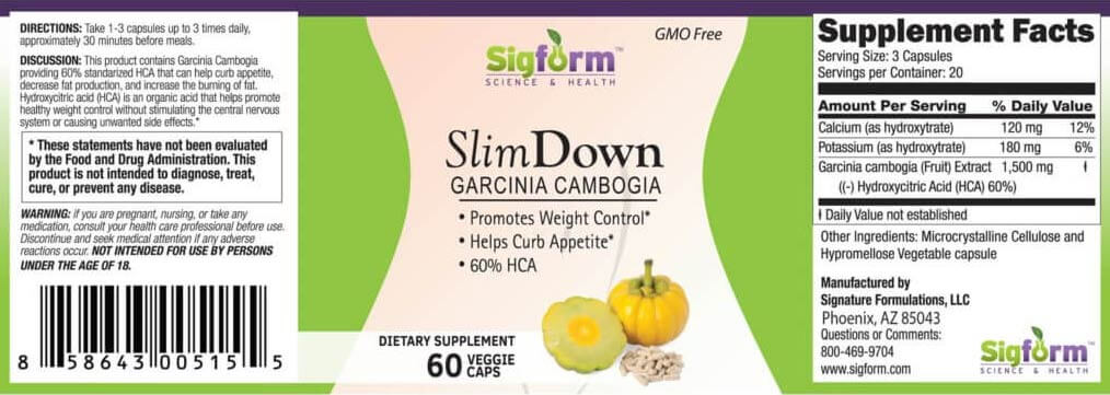 slimdown 60 count