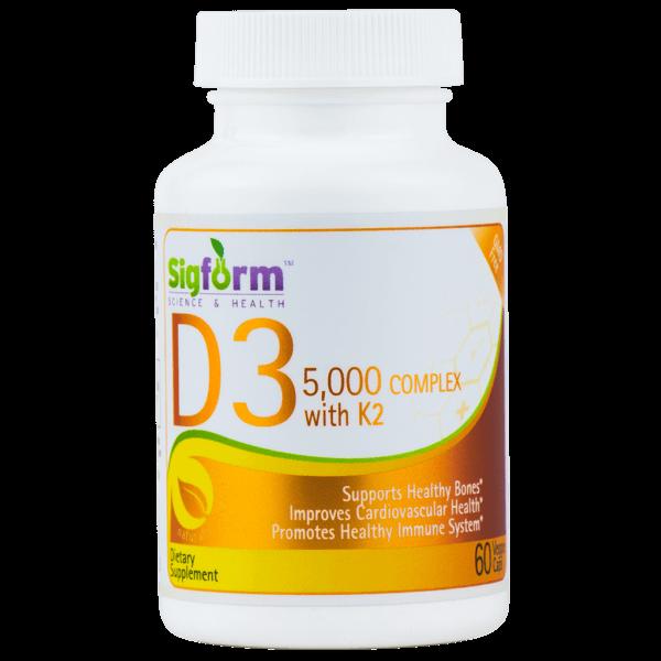 Vitamin D3 5000 IU complex with k2 60caps